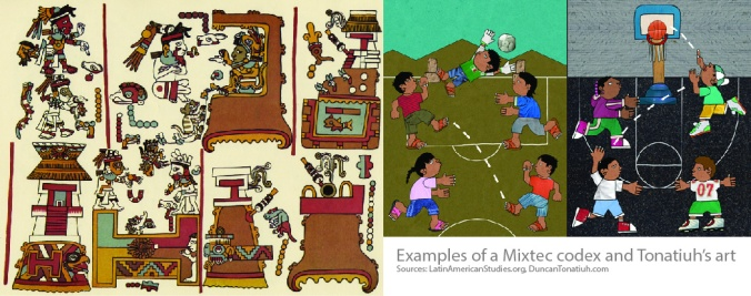 Mixtec Codex and Tonatiuh